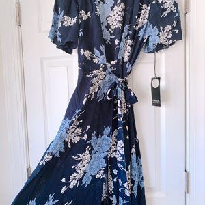 Privacy Please Dresses - NWT Privacy Please Plaza Blue Floral Maxi Dress